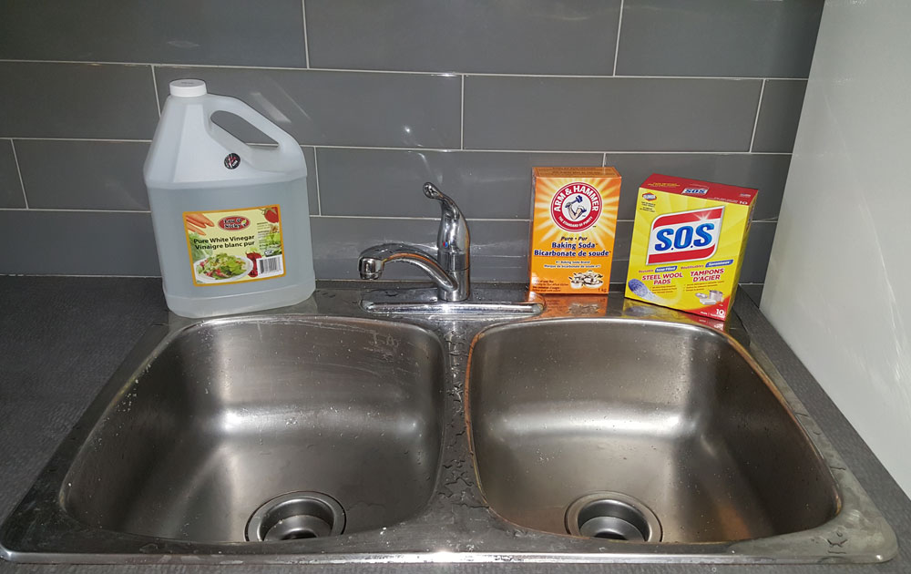 to Clean Stainless Steel Sink Stains Naturally with Baking Soda ...