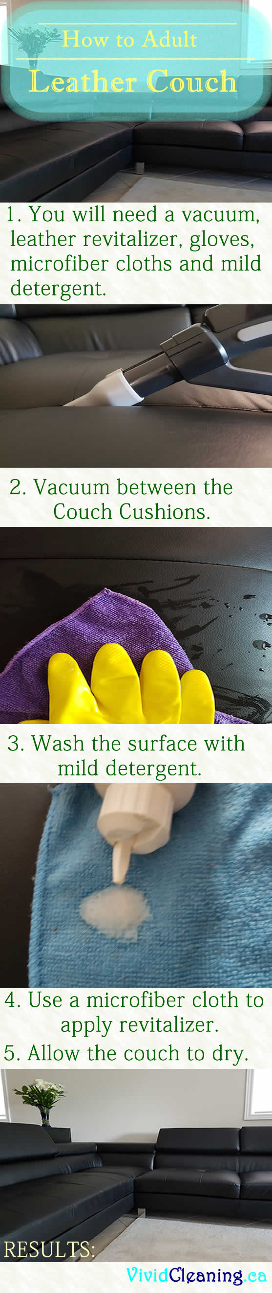 How to Clean a Sectional Leather Couch - Vivid Cleaning
