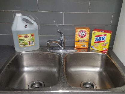 How to Clean Stainless Steel Sink Stains Naturally with Baking Soda & Vinegar