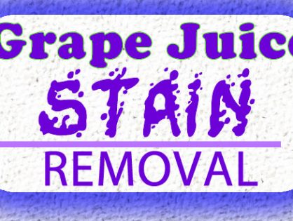 How to Clean Grape Juice Stains From Carpets